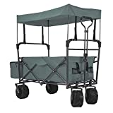 EXTEC Folding Stroller Wagon Collapsible with