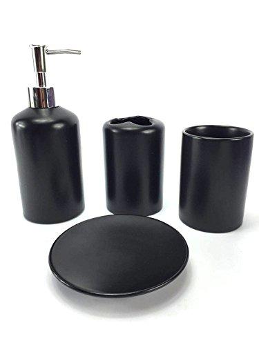 WPM 4 Piece Ceramic Bath Accessory Set | Includes Bathroom D