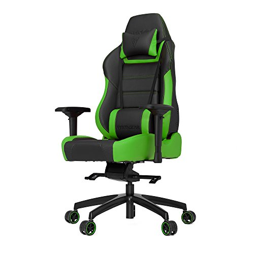 Vertagear P-Line PL6000 Racing Series Gaming Chair - Black/Green (Rev. 2) Nov/2016 - Low Back Swivel Rocker