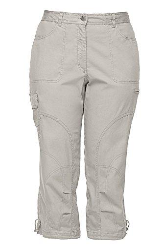 Ulla Popken Women's Plus Size Cropped Seamed Cargo Pants Marble 18 667042 23 from Ulla Popken