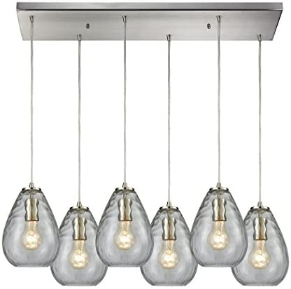 Elk Lighting 10760 6RC Pendant Light, Satin Nickel