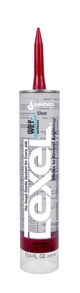 Sashco Inc 13010 18 Pack 10.5 oz. Lexel Adhesive Caulk, Clear by Sashco