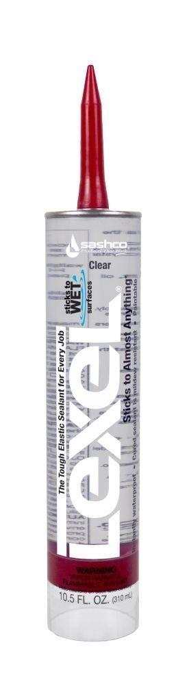 Sashco 13010 Lexel Sealant, 10.5 oz Cartridge, Clear ( Case of 12)