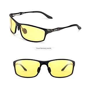 SOXICK HD Polarized Night Driving Glasses Anti Glare Safety Glasses (Black2)