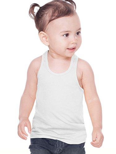 Kavio! Unisex Infants Sheer Jersey Racer Back Tank White - Unisex Large Jersey White