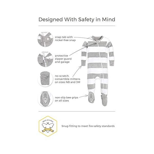 535886bf3949 Burt s Bees Baby - Baby Boys  Sleeper Pajamas