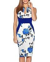 Haogo Womens V Neck Sleeveless Floral Print...