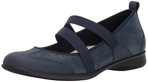 Trotters Womens Josie Mary Jane Piatto Blu Scuro
