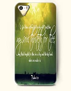 iPhone 4 4S Case OOFIT Phone Hard Case **NEW** Case with Design O God Thou Are My God Early Will I Seek Thee My Soul Thirsteth For Thee My Flesh Longeth For Thee In A Dry And Thirsty Land Where No Water Is Psalm 63:1- Bible Verses - Case for Apple iPhone 4/4s
