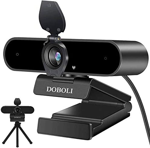 Webcam with Microphone for Desktop, 1080P HD Computer Camera Streaming Webcam for PC Laptop Black