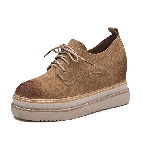 Cybling Tillfälliga Snörning Skor Höga Bästa Dolda Mode Sneakers Svart