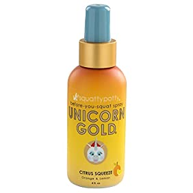 Squatty Potty Unicorn Gold Toilet Spray, Citrus Squeeze, 4 Ounce