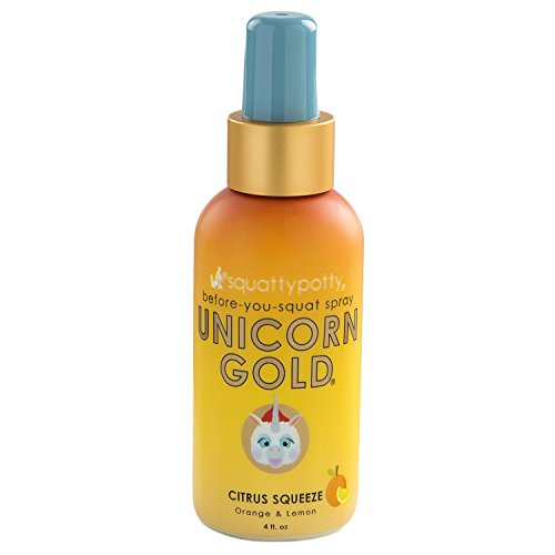 Price comparison product image 4 FL OZ. Squatty Potty Unicorn Gold Toilet Spray, Citrus Squeeze