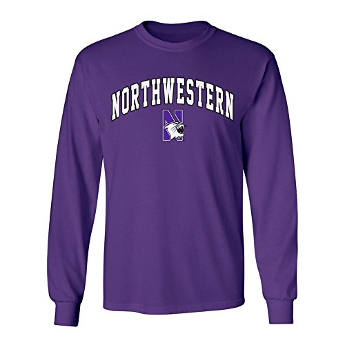 Northwestern Wildcats Long Sleeve Tshirt Arch Purple - M