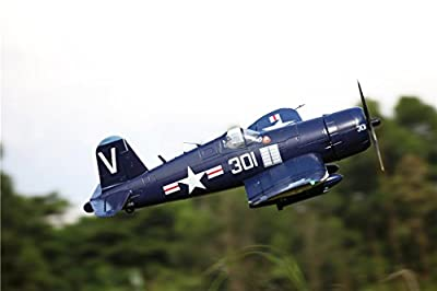 "FMS F4U Corsair RC Airplane 6CH 1700mm (66.9"") Wingspan Blue with Flaps LED Retracts PNP Warbird"