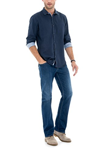 Salsa - Jeans jambe droite Navarro avec délavage moyenne - Homme