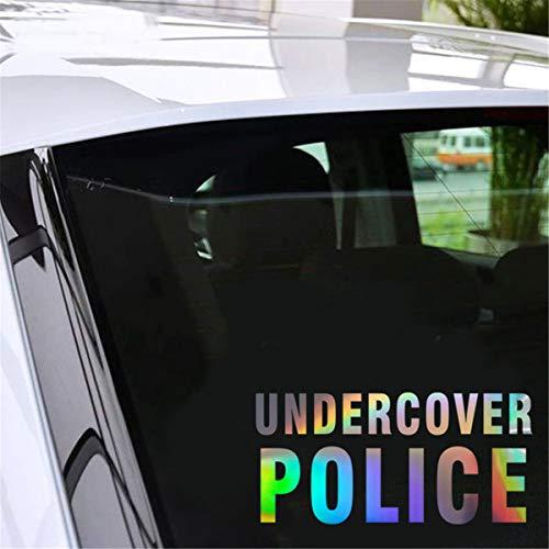 Pokewin 2pcs Undercover Police JDM Home Glass Window Door Car Sticker Auto Truck Laptop Decor Gift 19.0cmX9.1cm