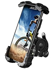 """Bike Phone Mount, Motorcycle Phone Holder - Lamicall Motorcycle Bicycle Cell Phone Mount Clamp for Handlebar, Cycling Motorcycle Accessory Mounts for iPhone 12 Mini 11 Pro Max X 9 8 S, Samsung Galaxy S20, S10, S9, A71, A51 and More 4.7"""" - 6.8"""" Smartphone"""