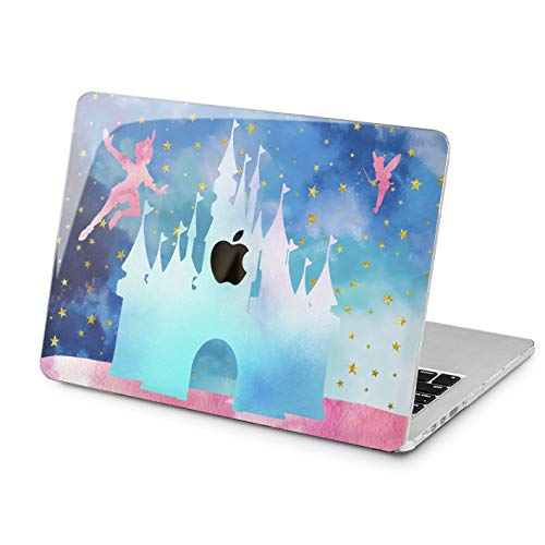 Lex Altern MacBook Hard Case Pro 15 Air 13 inch Retina 12 11 Apple Mac Protective Cover 2019 2018 2017 2016 2015 Plastic Laptop Print Touch Bar Castle Tinkerbell Peter Pan Cartoon Disney Blue Star