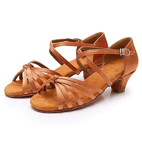 Zapatillas Modelo Bajo Baile xgg Salón 4 Hipposeus Tacón Marrón Cm Para Mujer De Latino dj Eswh 4SqcwRd