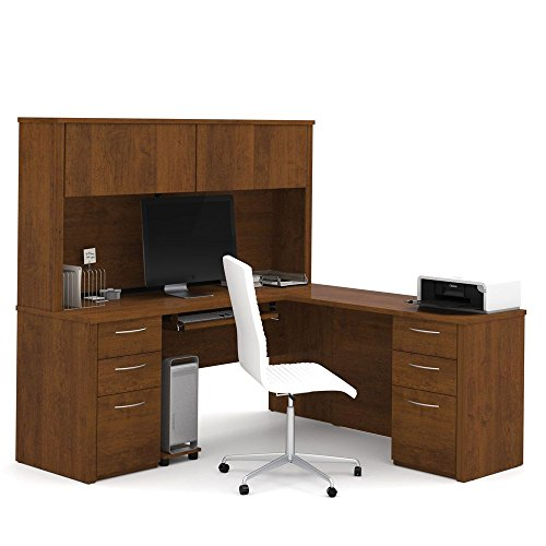 Embassy Executive L Desk with Hutch Dimensions: 71.125