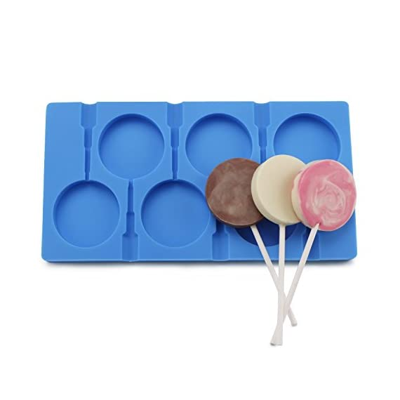 Homemade Lollipop Mold, Beasea Silicone Sucker Molds Candy Chocolate Ice Pop Lolly Pop Cake Decoration with 50 Lollipop Sticks 4 This lollipop produced by food grade silicone, meets FDA safety standard, durable, sturdy, easy to demould, avirulent, can be utilized repeatedly, good flexibility and toughness, waterproof, dust-resistant and so much more. With our fondant bakeware, creating different treats & desserts for your family as well as your friends. It applies to make lollipop/ chocolate/ fondant/ pastry/ gummy/ ice/ jelly/ cookie/soap and more. Permitted temperature varies from -40 Centigrade to 230 Centigrade ( -40 Fahrenheit to 446 Fahrenheit ).