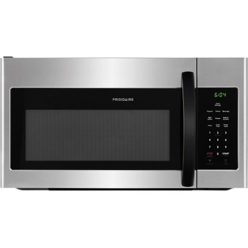 Frigidaire FFMV1645TH 30″ Over the Range Microwave with 1.6 cu. ft. Capacity, LED Lighting, Multi-Stage Cooking Option, in Stainless Steel with Black Handle