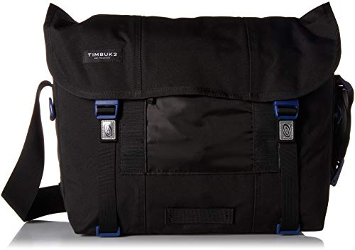 Timbuk2 Flight Classic Messenger Bag, Jet Black/Blue Wish, S, Jet Black/Blue Wish, - Flight Pack Jet