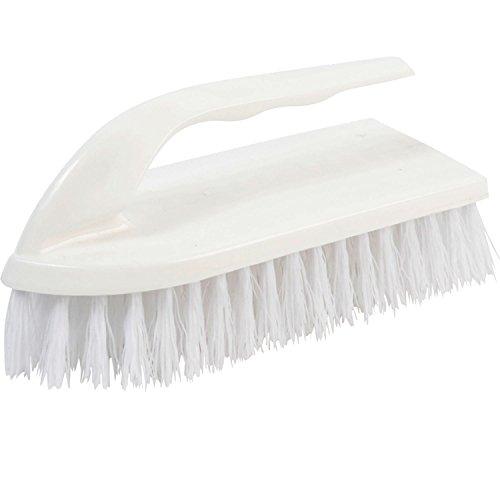 - Janico 4003 Bristles Iron Handle Scrub Brush, Polypropylene Bristles, White