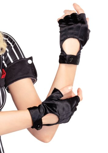 Leg Avenue Women's Fingerless Motorcycle Gloves, Black, One Size ()