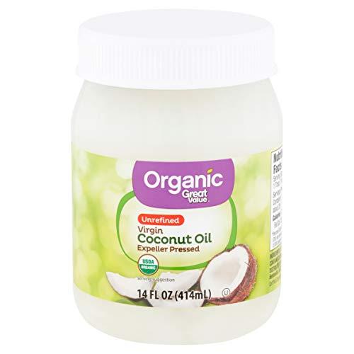Great Value Organic Unrefined Virgin Coconut Oil, 14 oz