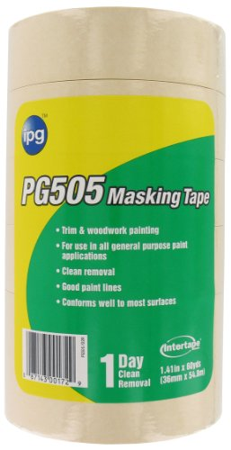 Intertape Polymer Group PG505-36SL Professional Grade Masking Tape, 1.41-Inch x 60-Yard, Natural, ()