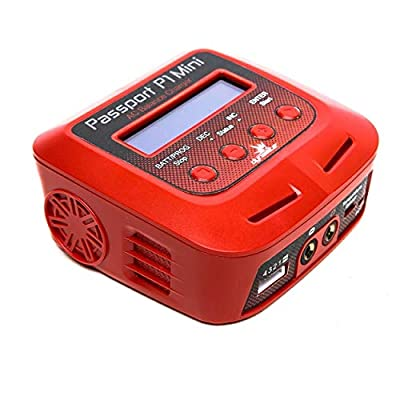 Passport P1 Mini 60W AC Multi Balance Battery Charger Discharger with USB for RC Batteries: 2-4 Cell Li-Po, LiHV, Life   6-8 Cell NiMH, NiCd   6-12V PB