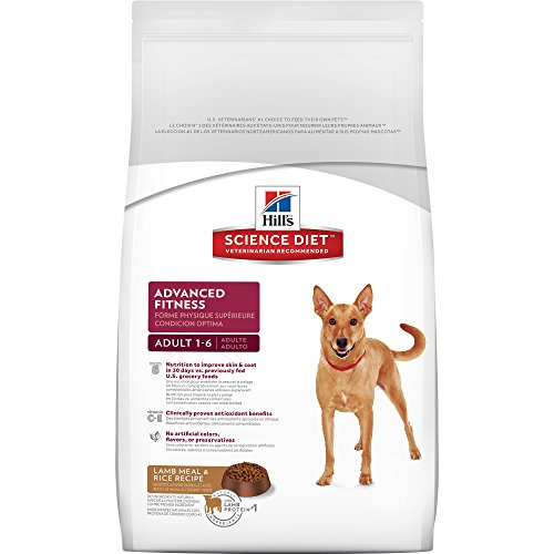 Hill's Science Diet Adult Dry Dog Food, Advanced Fitness Lamb Meal & Rice Recipe Pet Food, 33 lb Bag