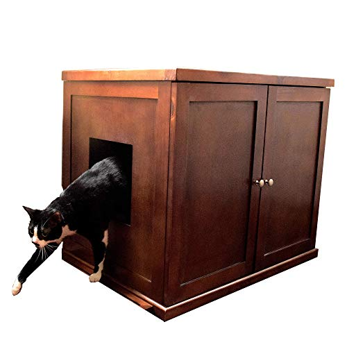 (The Refined Feline Refined Litter Box, X-Large, Mahogany (Renewed))