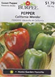 Burpee California Wonder Pepper - 100 Seeds
