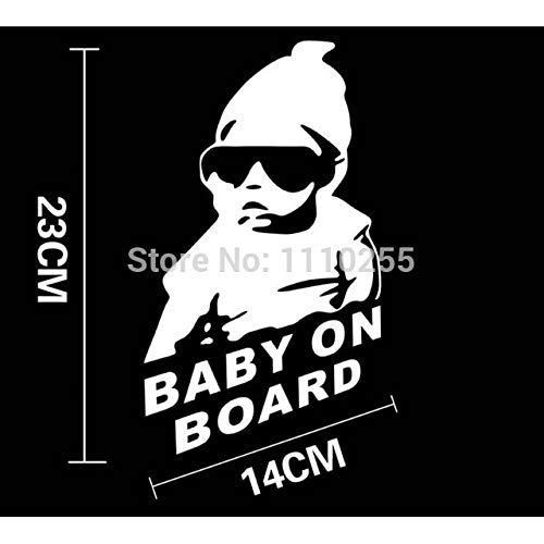 Scrapbooking Stickers & Sticker Machines, Decals For Cars, 1PC Baby On Board Car Stickers Warning Baby On Board Sticker Baby On Board Sticker For Cars - WHITE 23x14cm