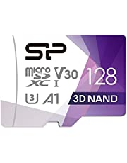 Silicon Power 128 GB R/W tot 100/80 MB/s Superior Pro Micro SDXC UHS-I (U3), V30 4K A1, High Speed MicroSD kaart met adapter