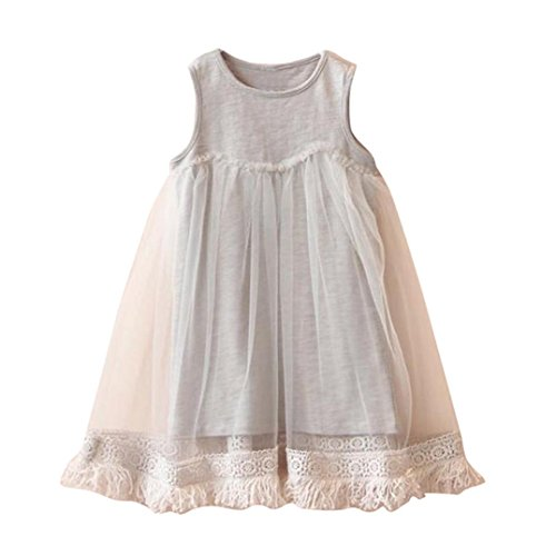 Dress Kids Outfit (Fabal Embroidery Party Princess Dress Cute Vestidos Children Clothes Outfits ((5-6T), Gray))