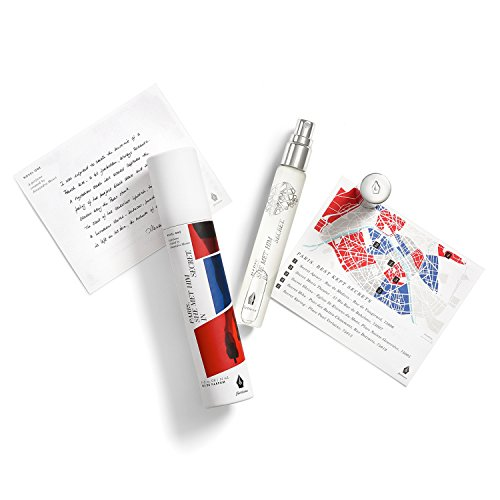 Fictions Mini Perfume Spray - Paris. She Met Him In Secret - By Alexandra Monet - Intoxicating Eau de Parfum - Violet Leaf, Dark Iris Accord, Sueded Leather - Travel Sized Purse Spray - 0.5 oz