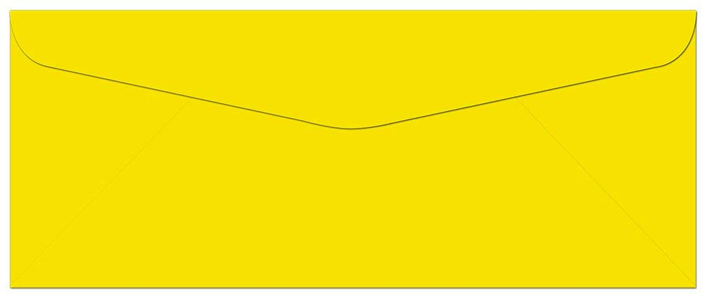 1000-Pack Yellow Envelopes #10-9.5'' x 4.125'' - Regular Commercial Flap - for Personal or Professional Use - Great for Mailing Invitations, Greeting Cards, Thank You Notes - by Note Card Café by Note Card Café