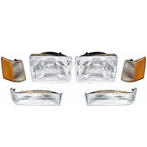 Headlights Depot CS024-B0016 Jeep Grand Cherokee OE Style Replacement 6 Piece Set