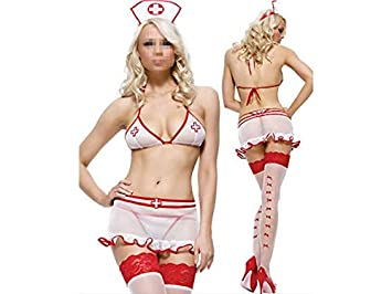 OVVO Uniformes de Enfermera Sexy para Mujer Trajes Sexy Ropa ...