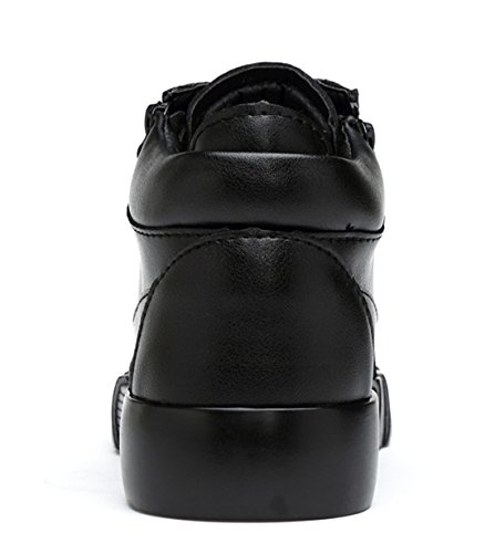 Autumn up and Men's Chukka Leather TDA Hot Lace Martin Zippers Boots Winter and Black Boys 8wxxnqtCU