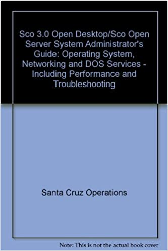 Sco Open Desktop/Sco Open Server System Administrator's Guide