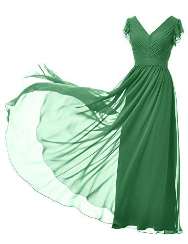 Alicepub Abiti Partito Maniche collo Sfera Promenade Di Smeraldo Dell'abito V Abito Color Da Lungo Sera Damigella Senza Di 01wpqR0r