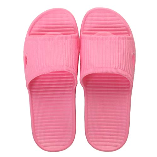 Coperto Donne Bagno Sandali Uomini Eva Soft Al Piatte Antiscivolo Slip Light Pink E Casa Bottom Pantofole S071q4w