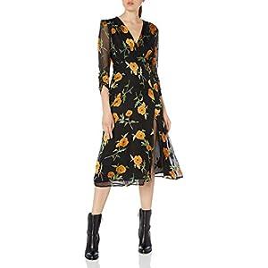ASTR the label Women's Joni Long Sleeve Wrap Midi Dress