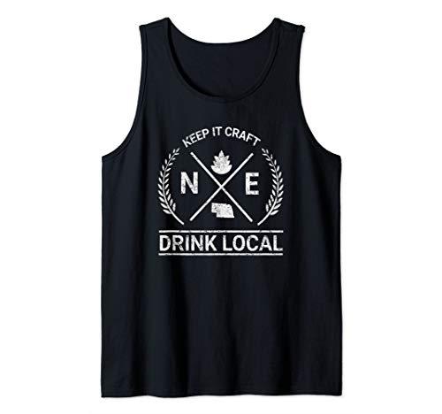 (Drink Local Nebraska Vintage Craft Beer Brewing Tank Top)