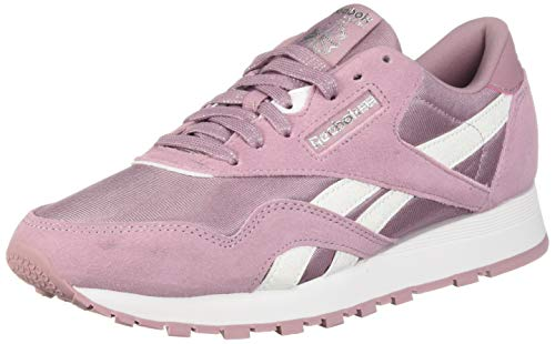 Shoe Watches Children (Reebok Classic Nylon Sneaker, Infused Lilac/White/Silver, 6 M US Big Kid)